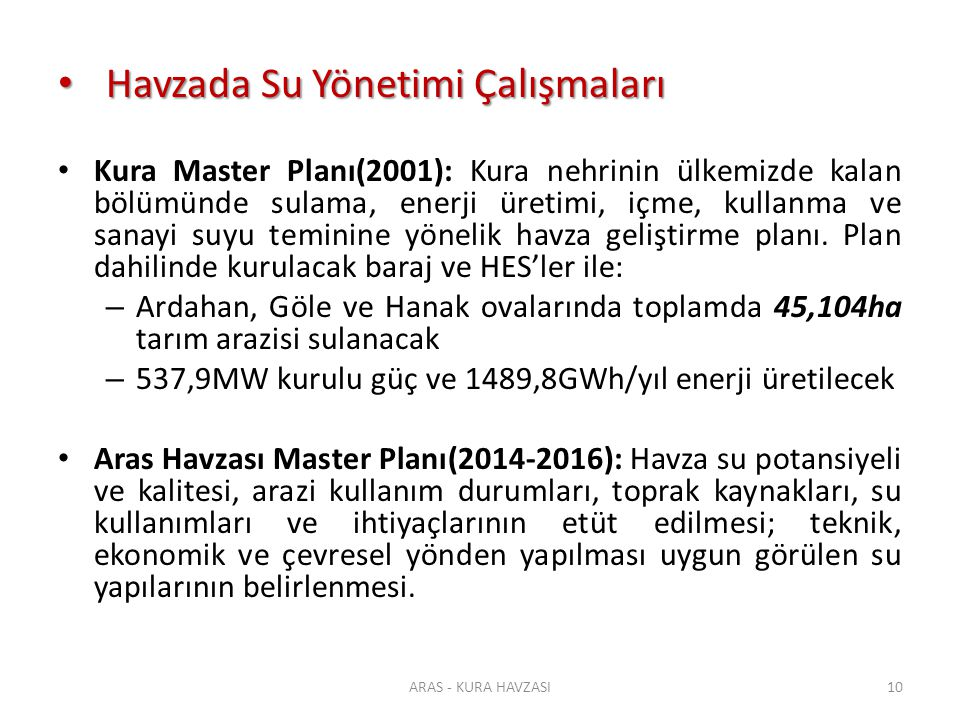 Havzada Su Yönetimi Çalışmaları