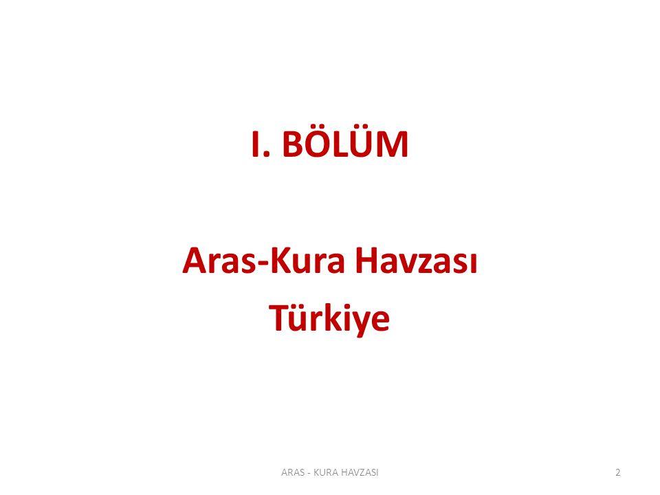 I. BÖLÜM Aras-Kura Havzası Türkiye