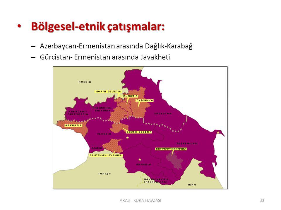 Bölgesel-etnik çatışmalar: