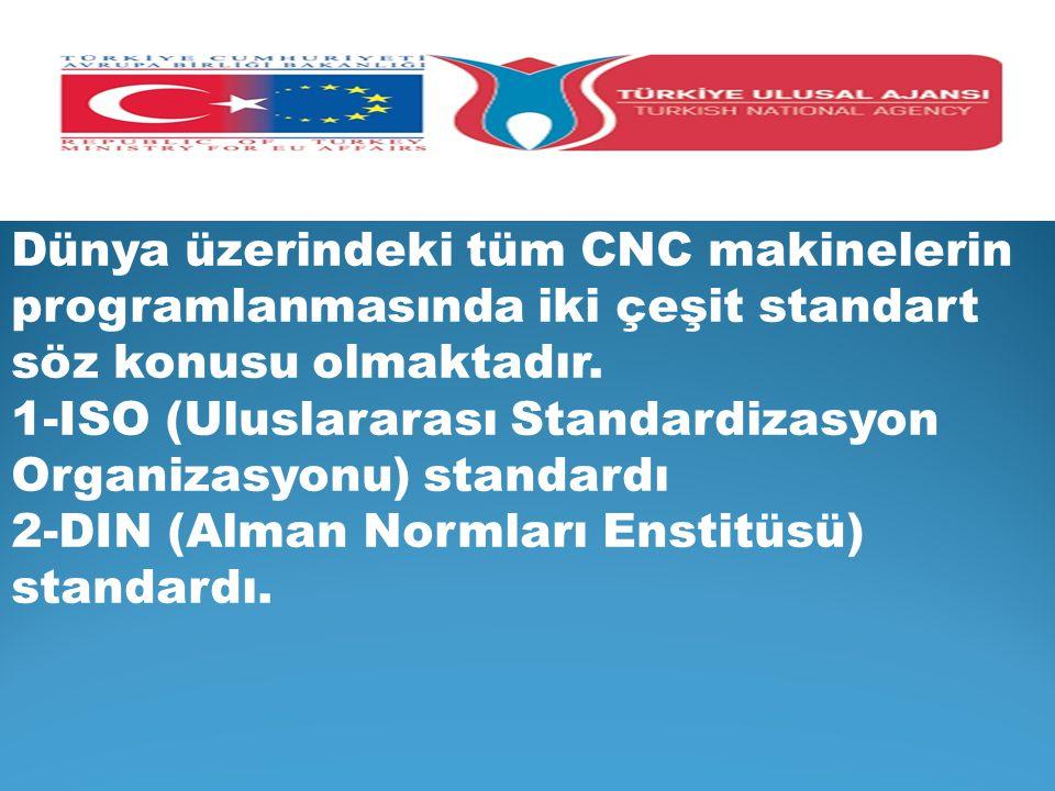 Dünya üzerindeki tüm CNC makinelerin programlanmasında iki çeşit standart söz konusu olmaktadır.