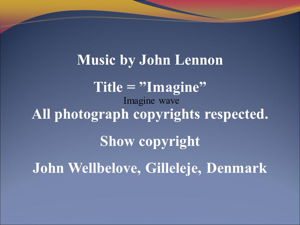 All photograph copyrights respected. Show copyright