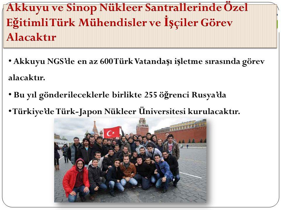 Akkuyu ve Sinop Nükleer Santrallerinde Özel Eğitimli Türk Mühendisler ve İşçiler Görev Alacaktır