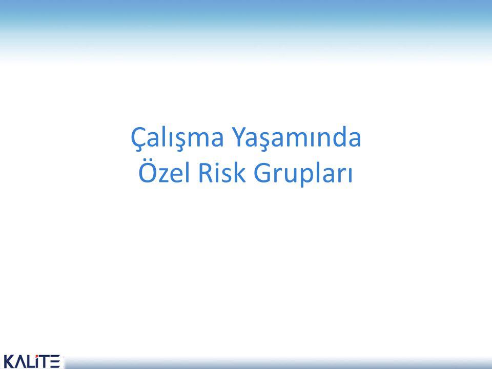 Çalışma Yaşamında Özel Risk Grupları
