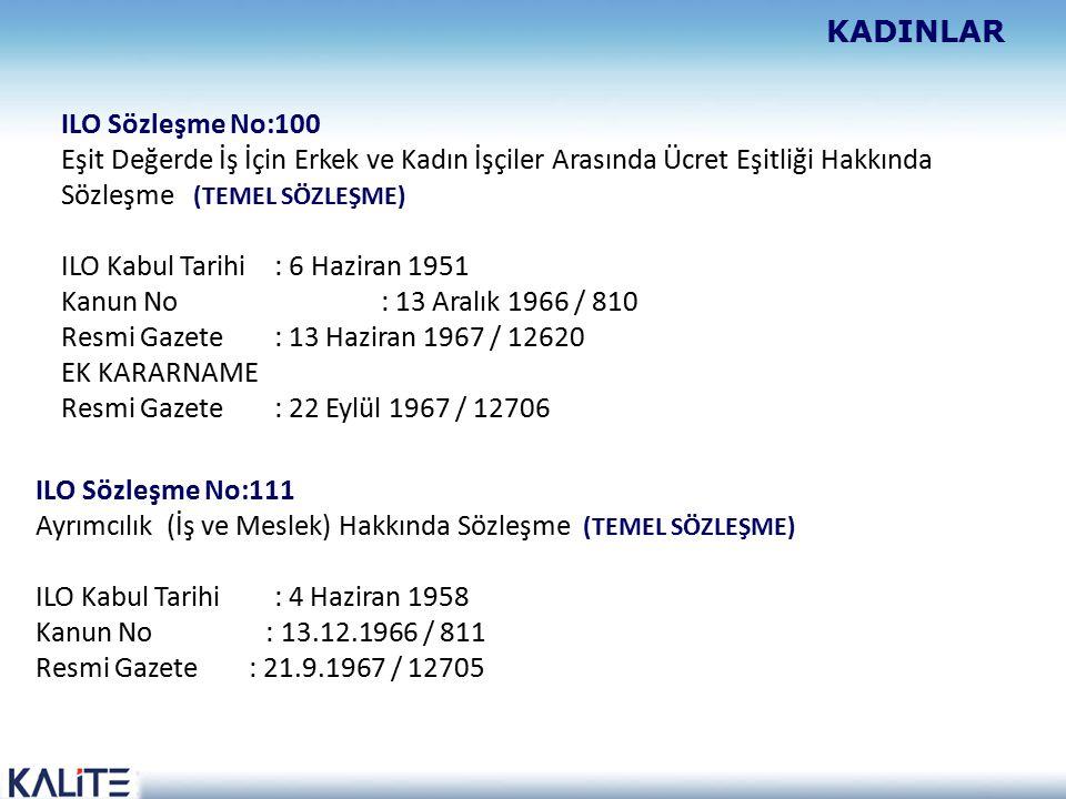 ILO Kabul Tarihi : 6 Haziran 1951 Kanun No : 13 Aralık 1966 / 810