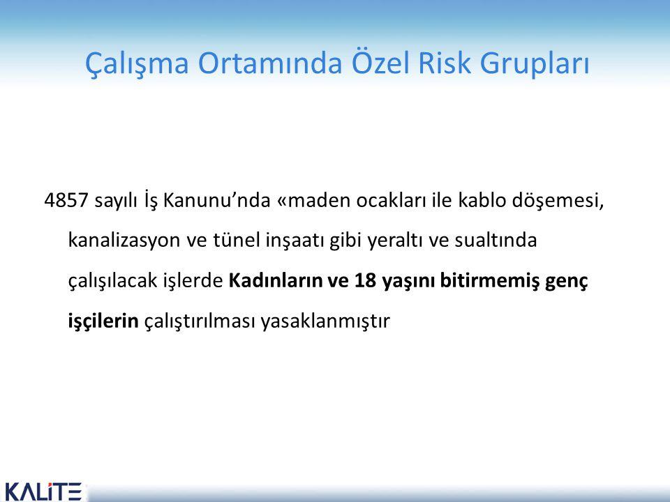 Çalışma Ortamında Özel Risk Grupları