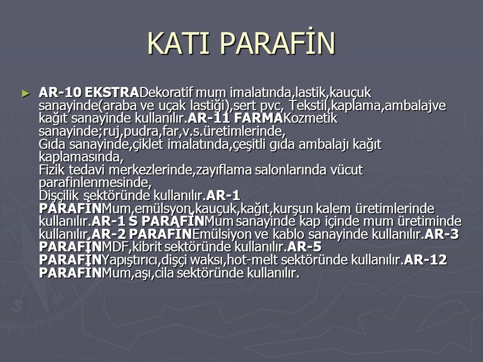 KATI PARAFİN