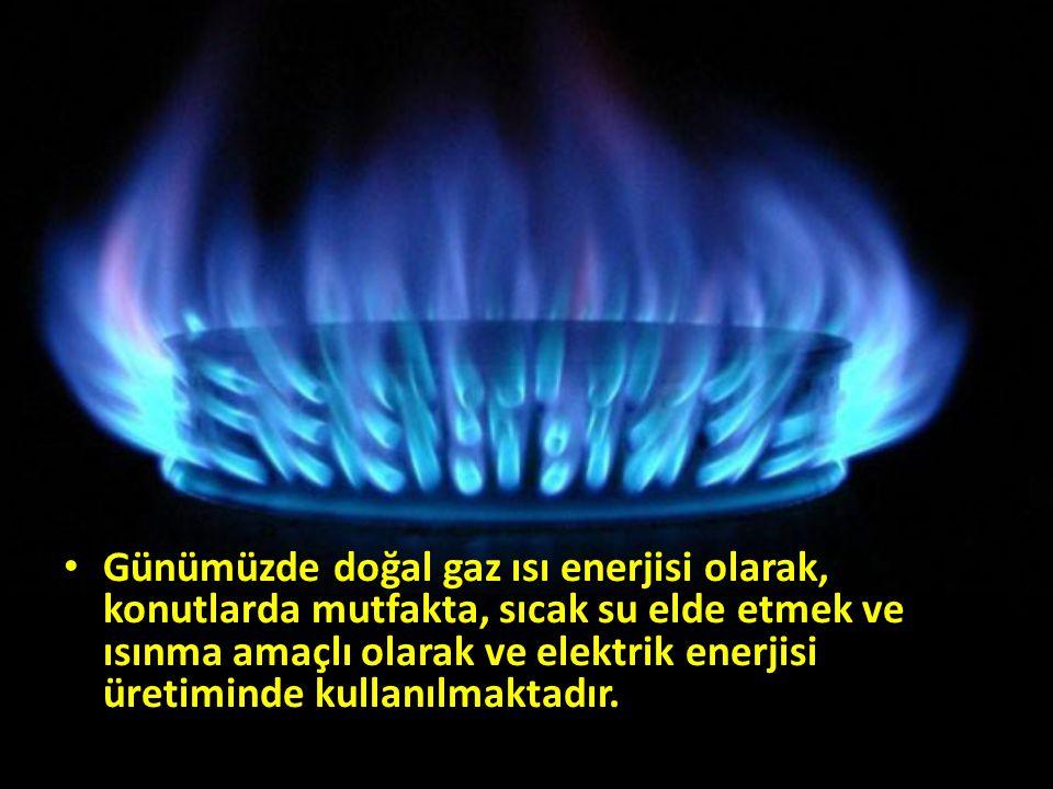 Günümüzde doğal gaz ısı enerjisi olarak, konutlarda mutfakta, sıcak su elde etmek ve ısınma amaçlı olarak ve elektrik enerjisi üretiminde kullanılmaktadır.