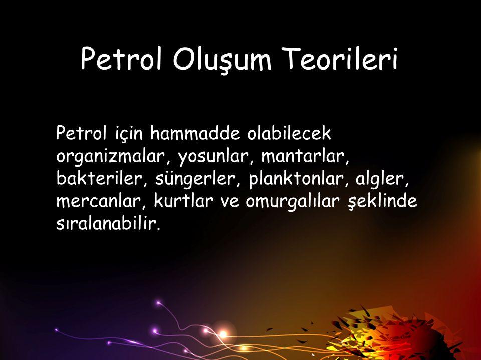 Petrol Oluşum Teorileri
