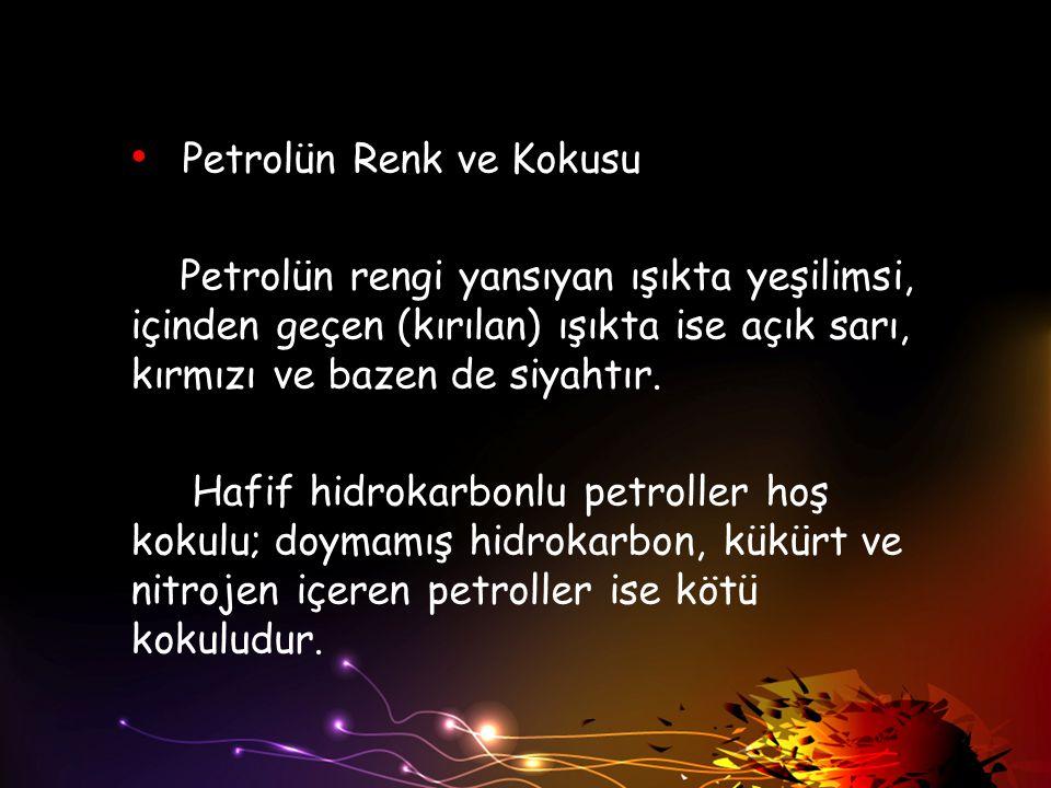 Petrolün Renk ve Kokusu