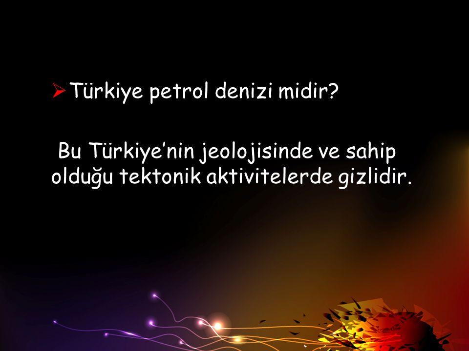 Türkiye petrol denizi midir