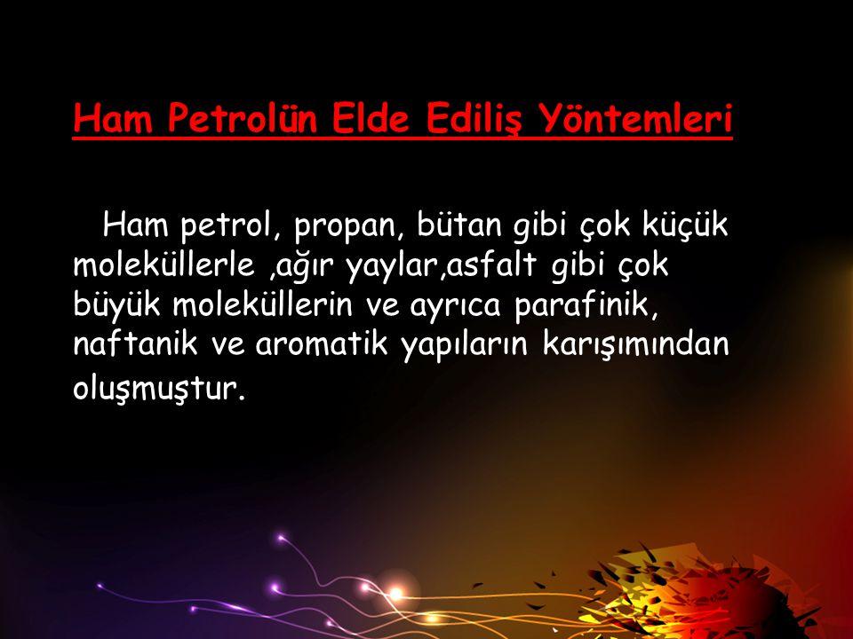 Ham Petrolün Elde Ediliş Yöntemleri