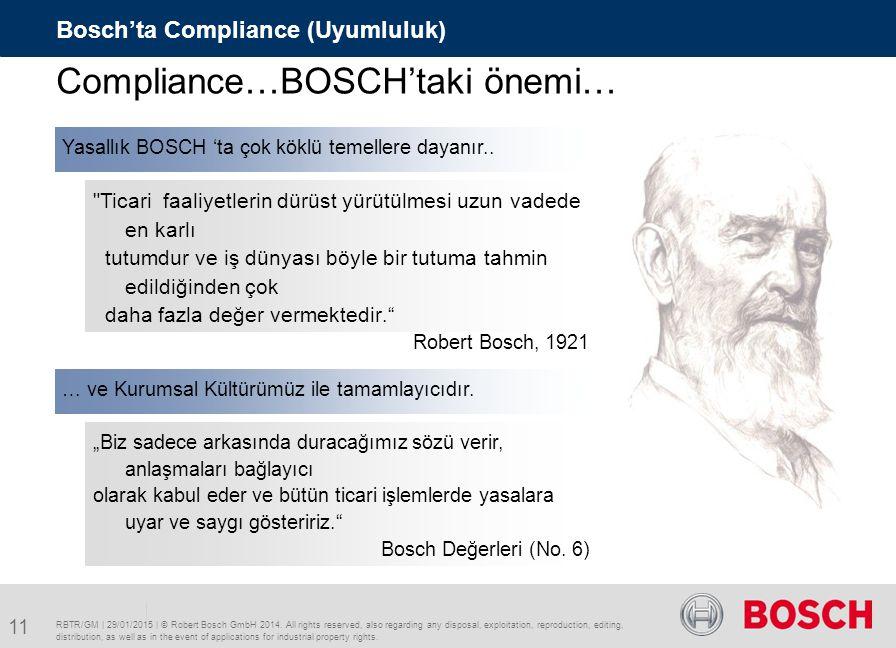 Compliance…BOSCH'taki önemi…