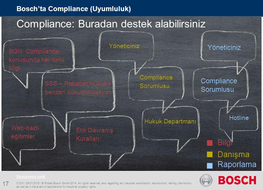 Compliance: Buradan destek alabilirsiniz
