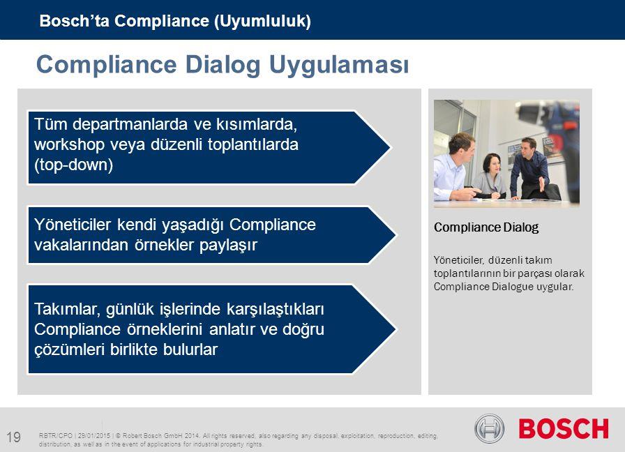 Compliance Dialog Uygulaması