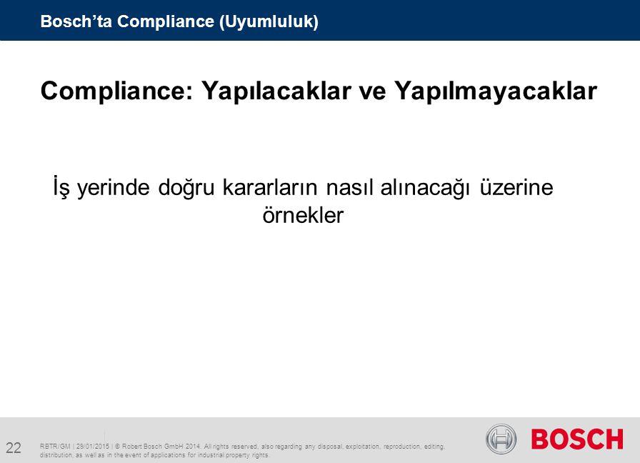 Compliance: Yapılacaklar ve Yapılmayacaklar