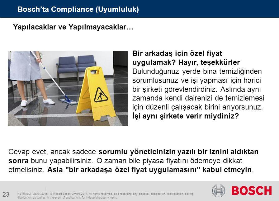Bosch'ta Compliance (Uyumluluk)