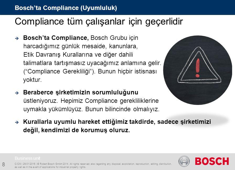Compliance tüm çalışanlar için geçerlidir