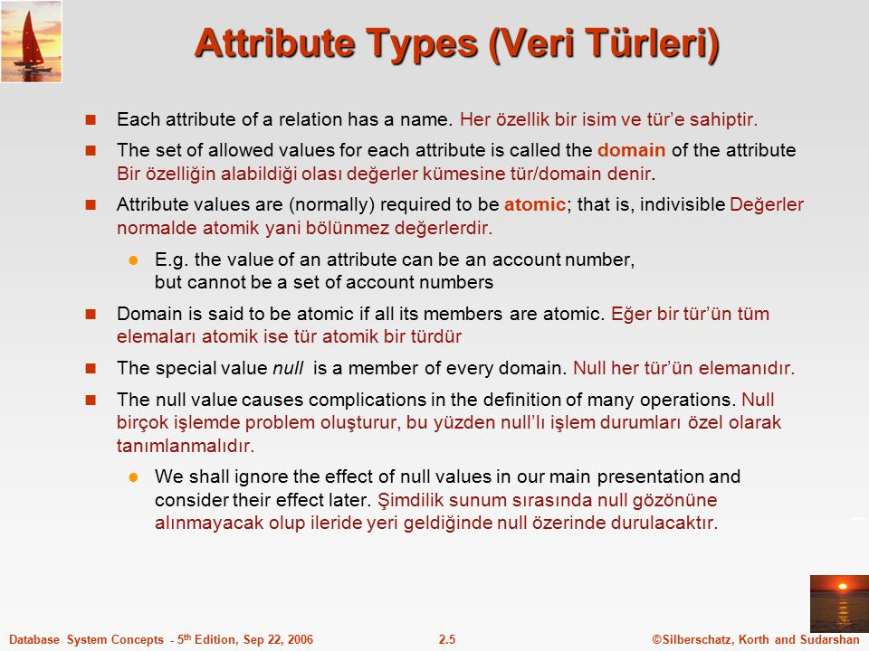 Attribute Types (Veri Türleri)
