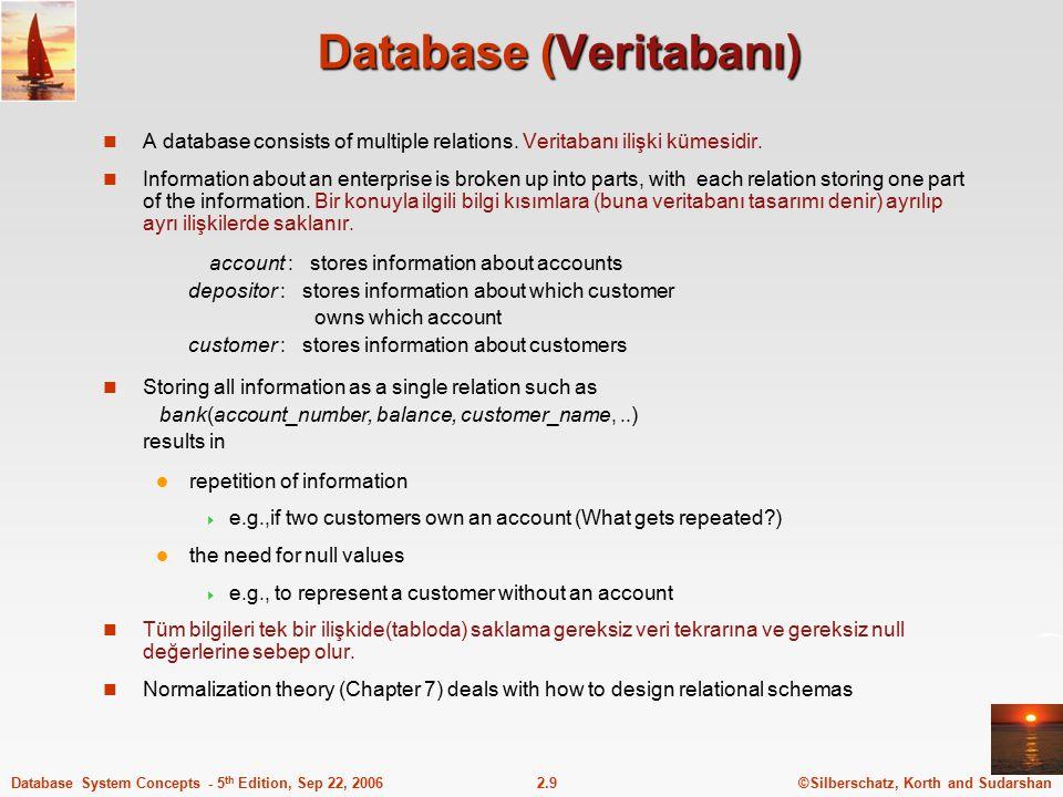 Database (Veritabanı)