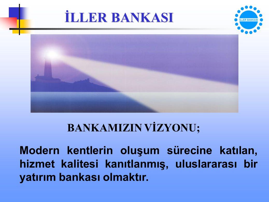 BANKAMIZIN VİZYONU; Modern kentlerin oluşum sürecine katılan, hizmet kalitesi kanıtlanmış, uluslararası bir yatırım bankası olmaktır.
