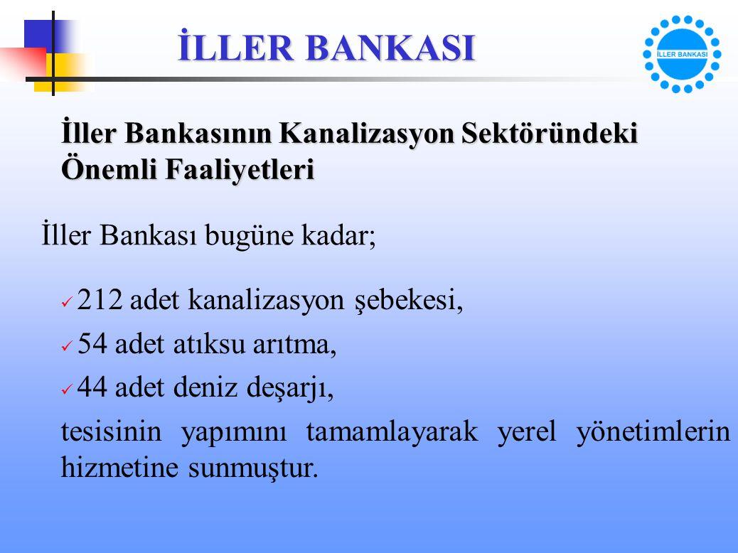 İller Bankasının Kanalizasyon Sektöründeki Önemli Faaliyetleri