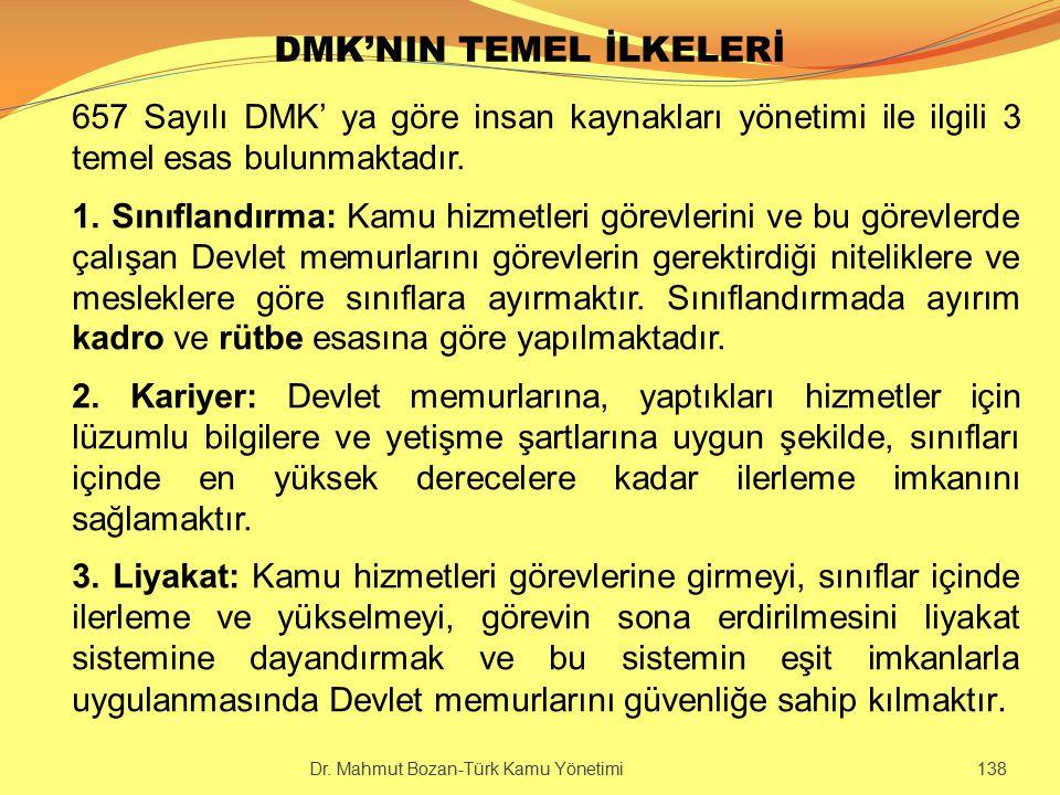 DMK'NIN TEMEL İLKELERİ