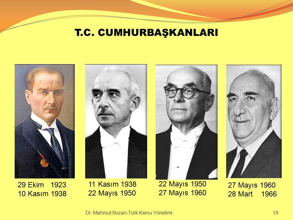 T.C. CUMHURBAŞKANLARI 29 Ekim 1923 10 Kasım 1938 11 Kasım 1938