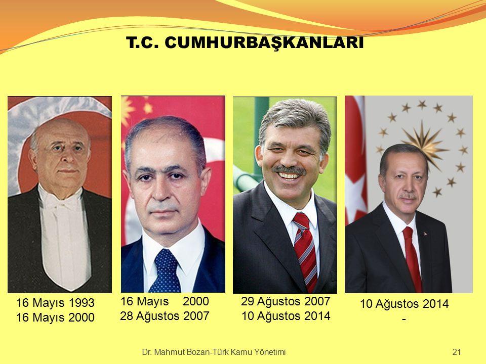 T.C. CUMHURBAŞKANLARI 16 Mayıs 1993 16 Mayıs 2000 16 Mayıs 2000