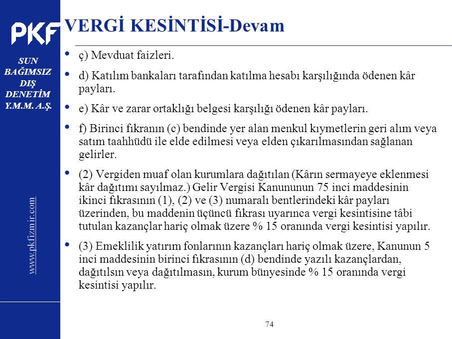 VERGİ KESİNTİSİ-Devam
