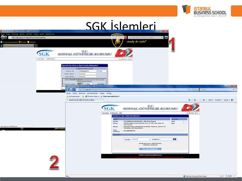 SGK İşlemleri 1 2