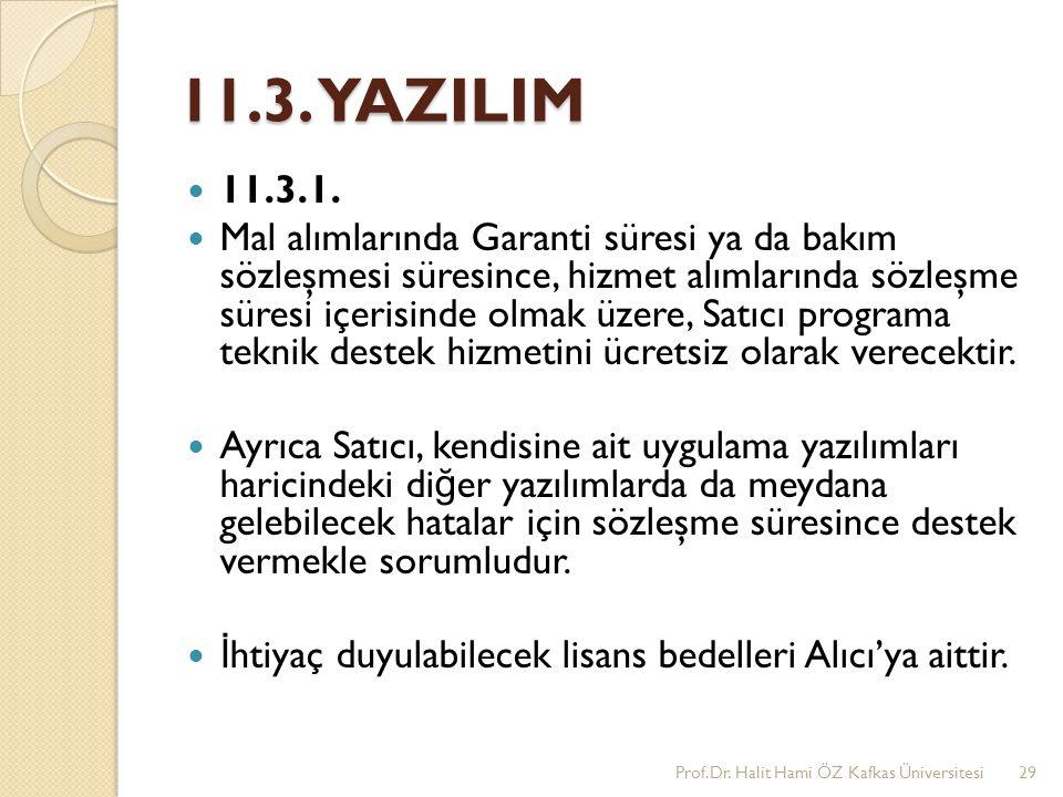 11.3. YAZILIM 11.3.1.