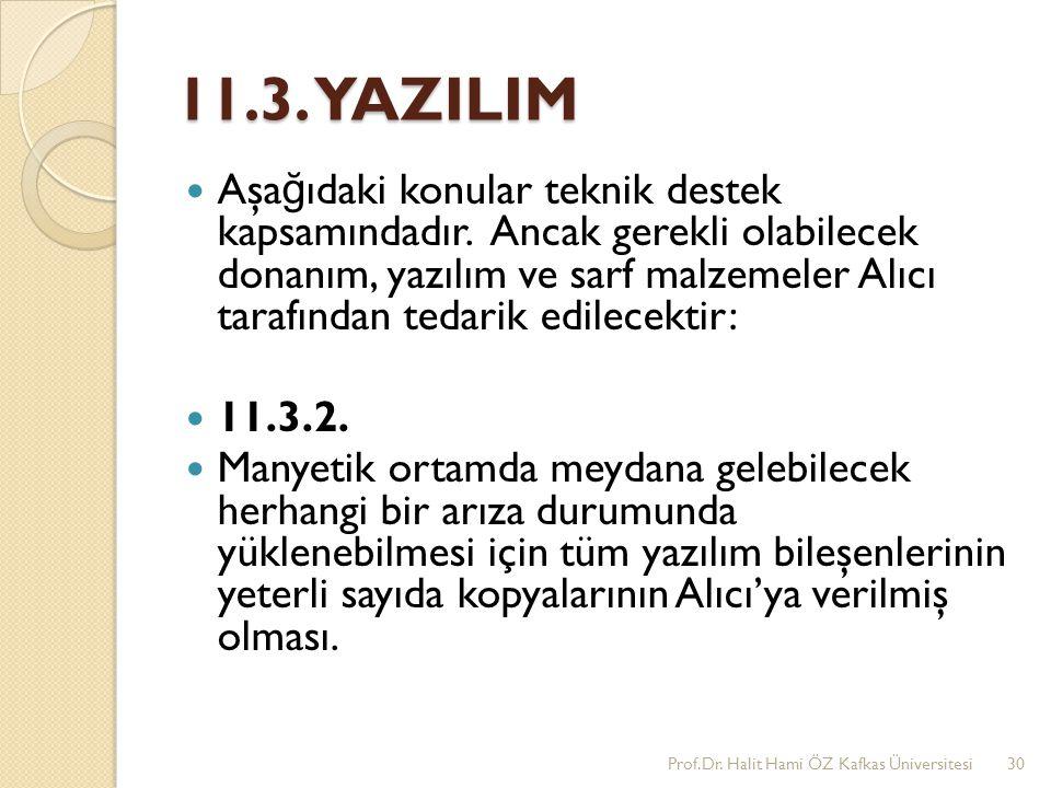 11.3. YAZILIM