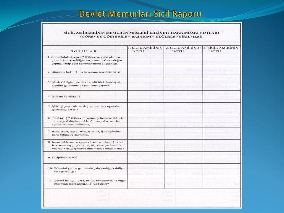 Devlet Memurları Sicil Raporu