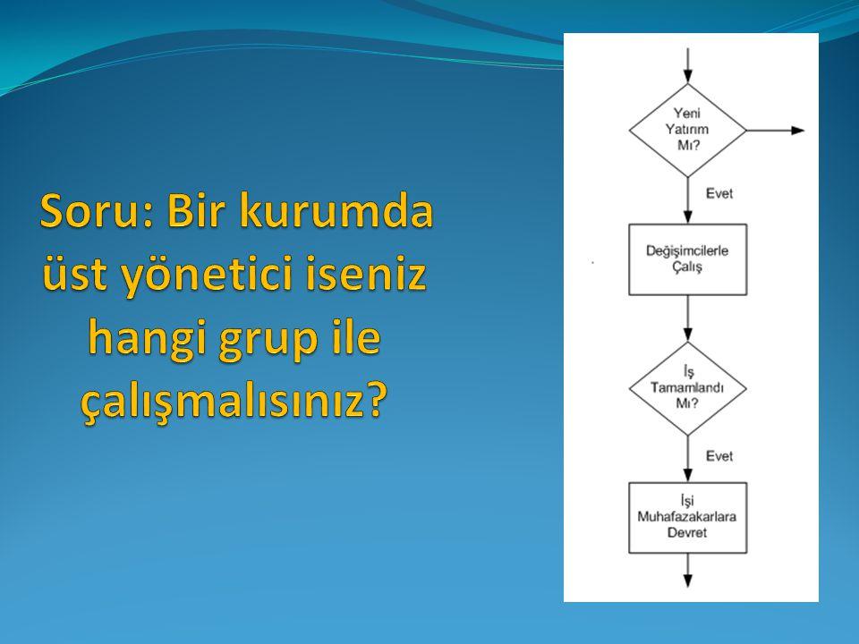 Soru: Bir kurumda üst yönetici iseniz hangi grup ile çalışmalısınız