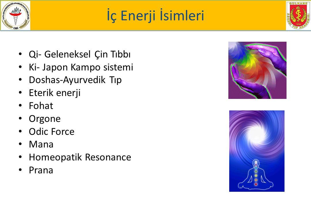 İç Enerji İsimleri Qi- Geleneksel Çin Tıbbı Ki- Japon Kampo sistemi