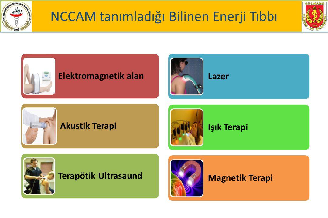 NCCAM tanımladığı Bilinen Enerji Tıbbı