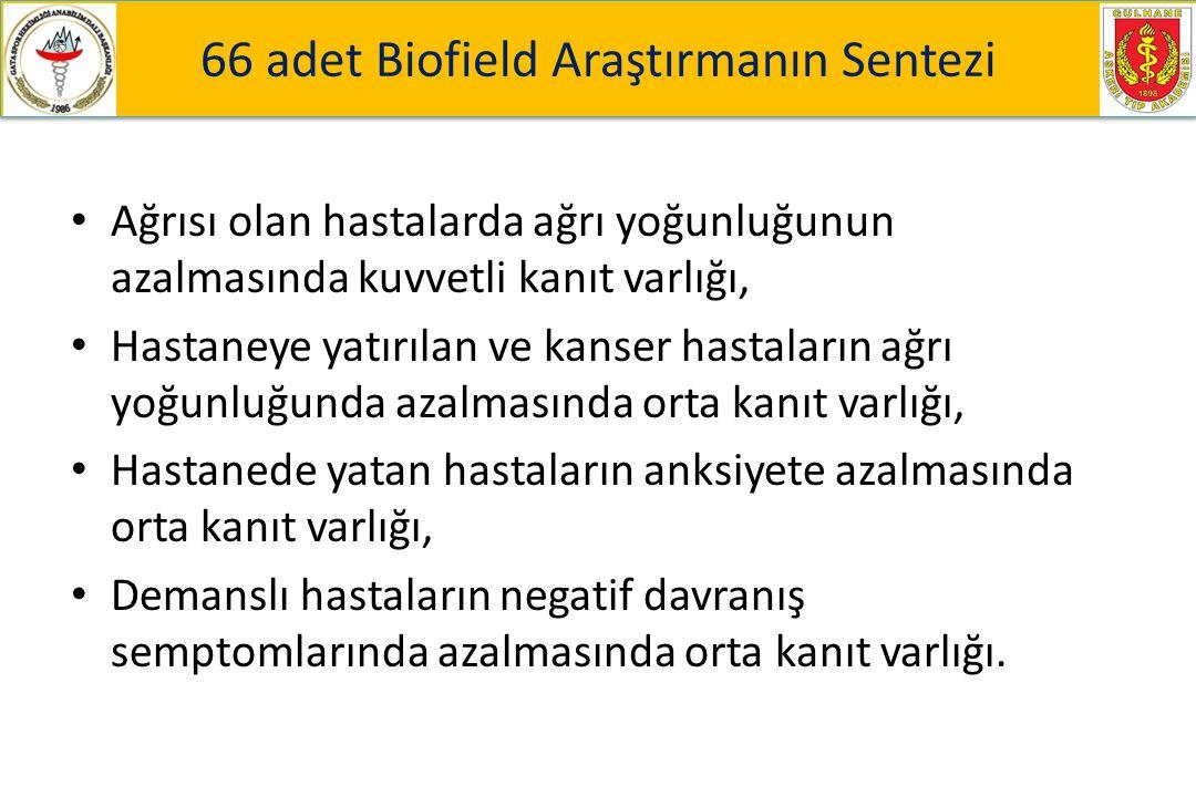 66 adet Biofield Araştırmanın Sentezi
