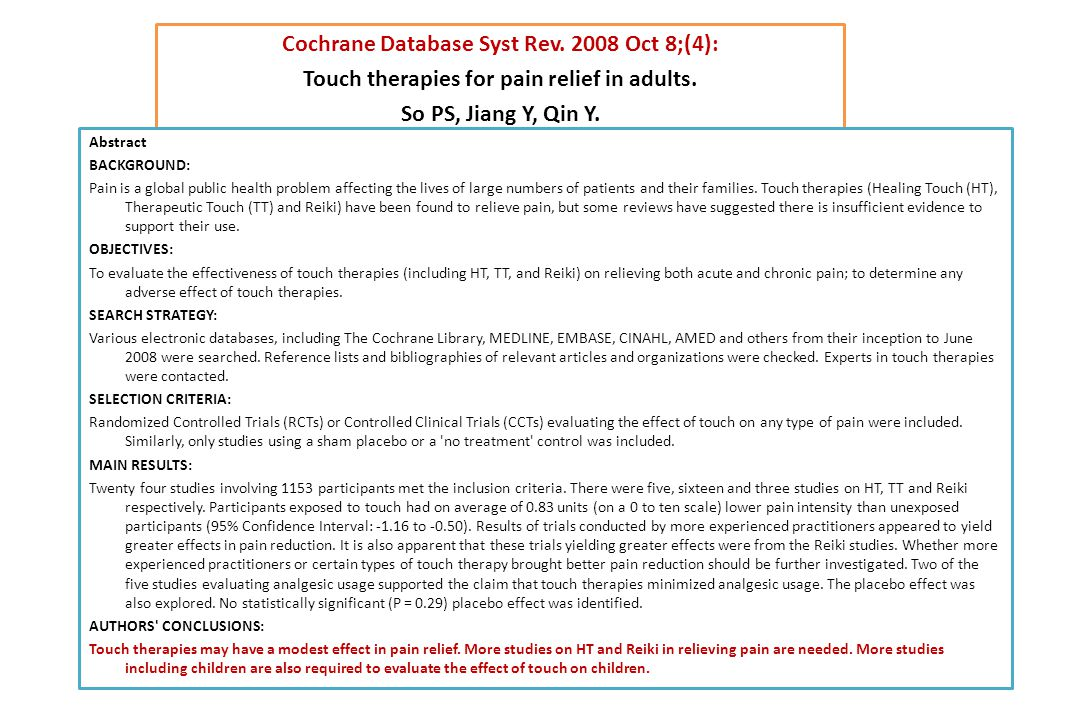 Cochrane Database Syst Rev. 2008 Oct 8;(4):