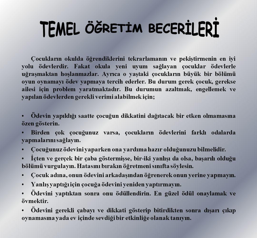 TEMEL ÖĞRETİM BECERİLERİ