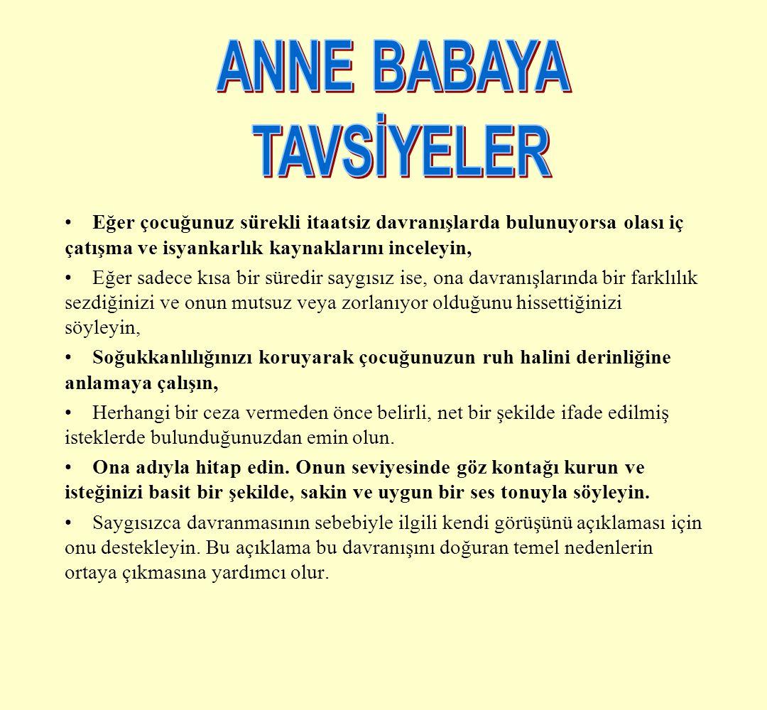 ANNE BABAYA TAVSİYELER