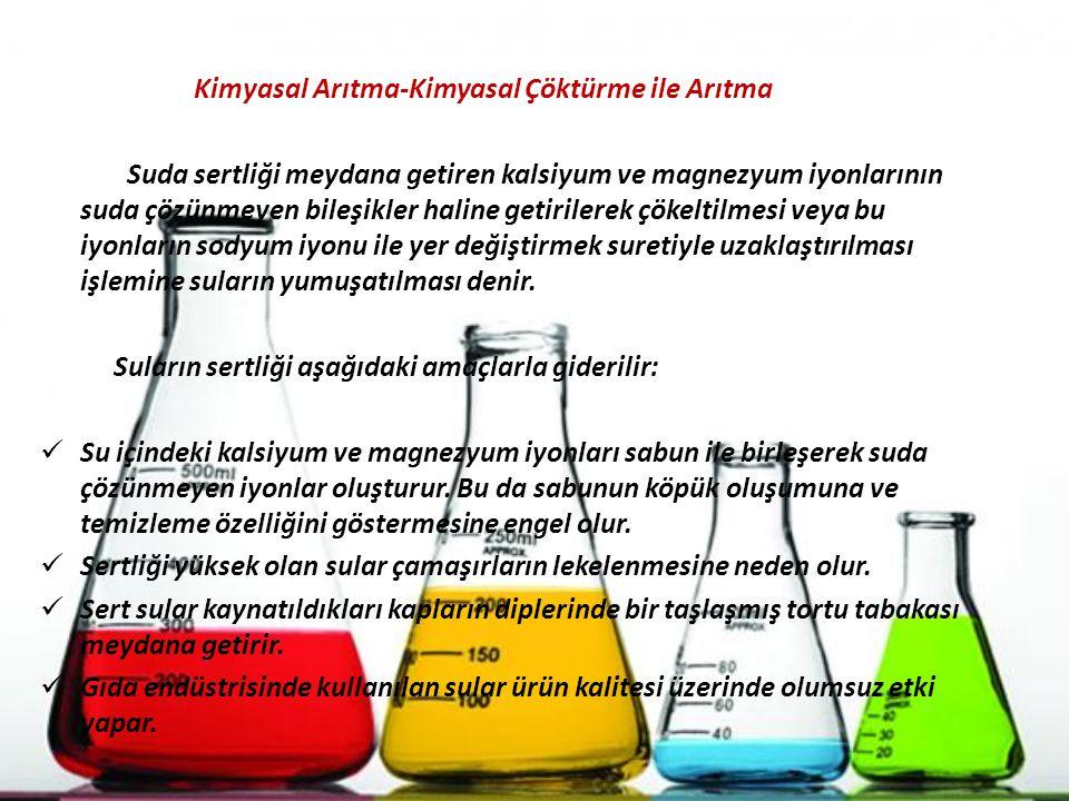 Kimyasal Arıtma-Kimyasal Çöktürme ile Arıtma