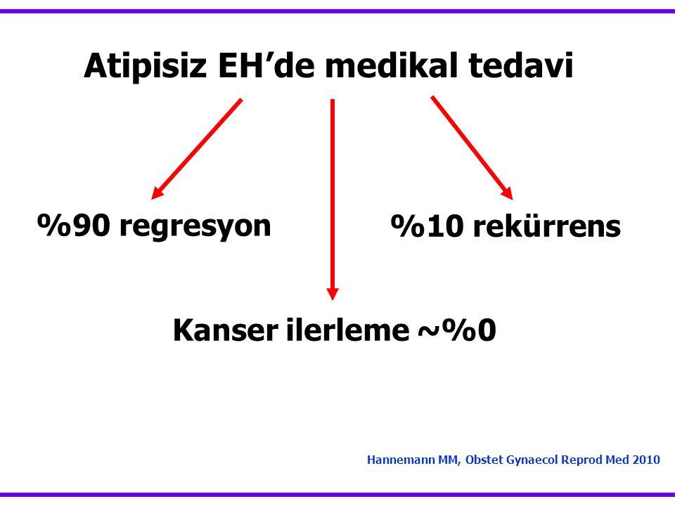 Atipisiz EH'de medikal tedavi