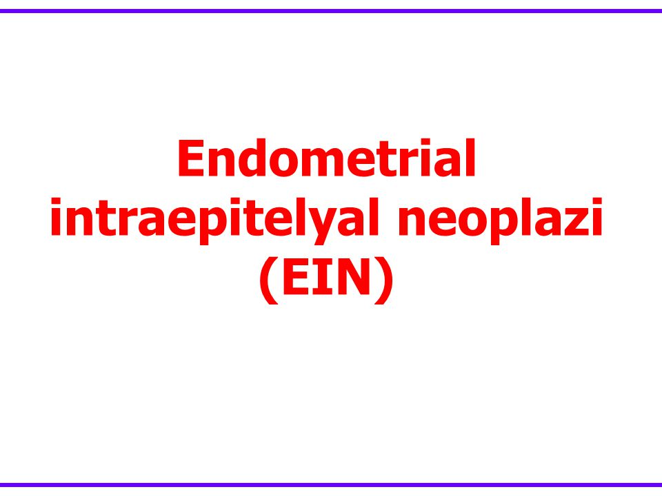 Endometrial intraepitelyal neoplazi (EIN)