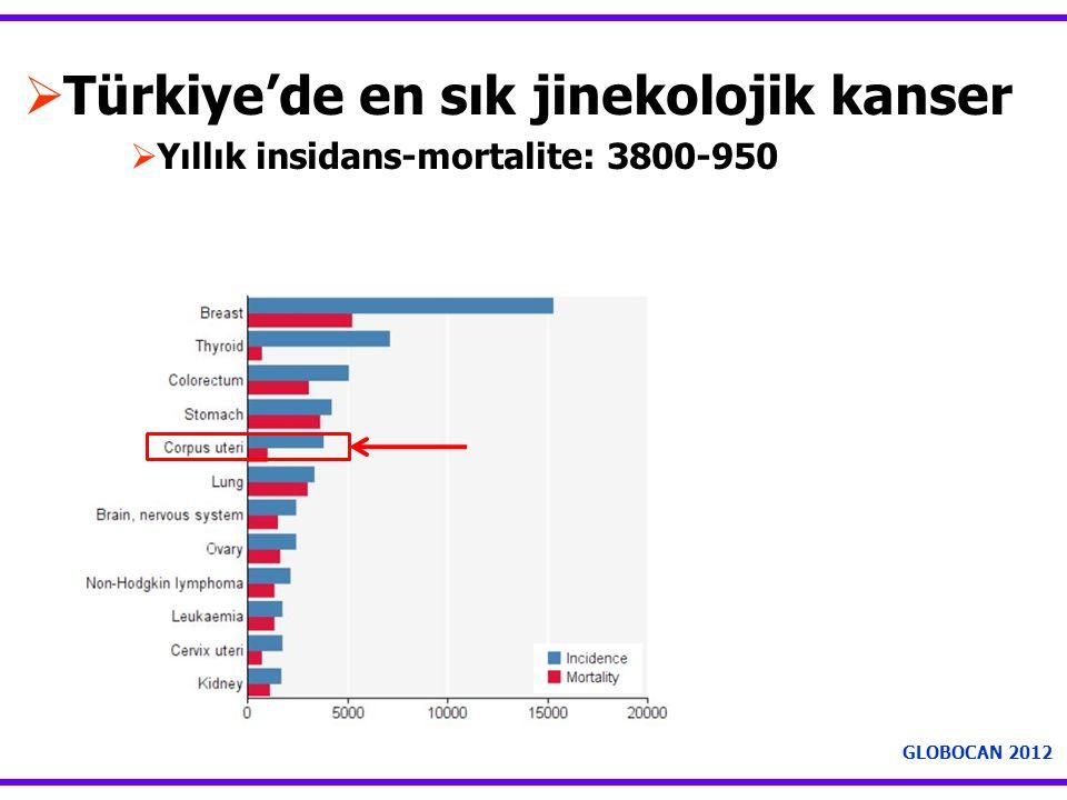 Türkiye'de en sık jinekolojik kanser