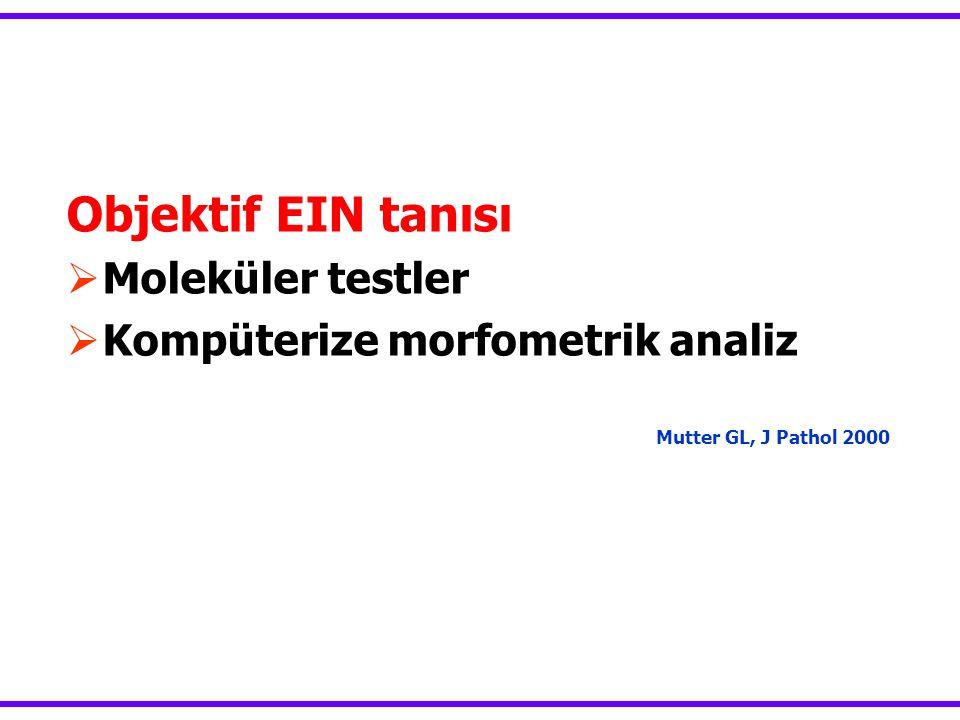 Objektif EIN tanısı Moleküler testler Kompüterize morfometrik analiz