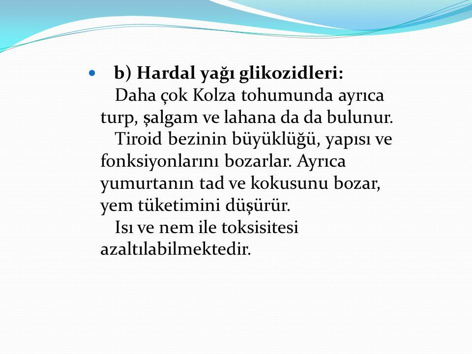 b) Hardal yağı glikozidleri: