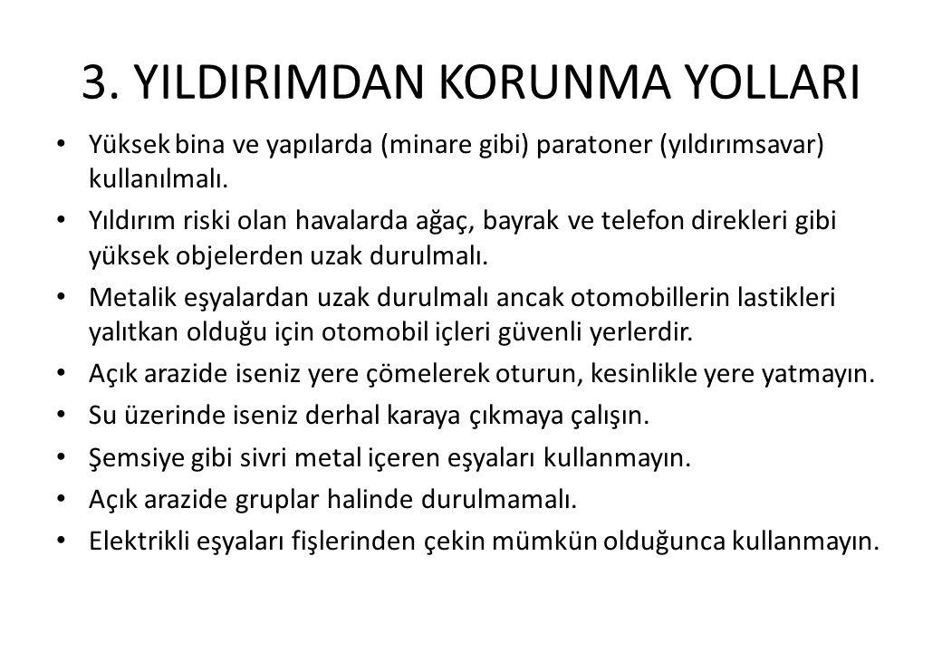 3. YILDIRIMDAN KORUNMA YOLLARI
