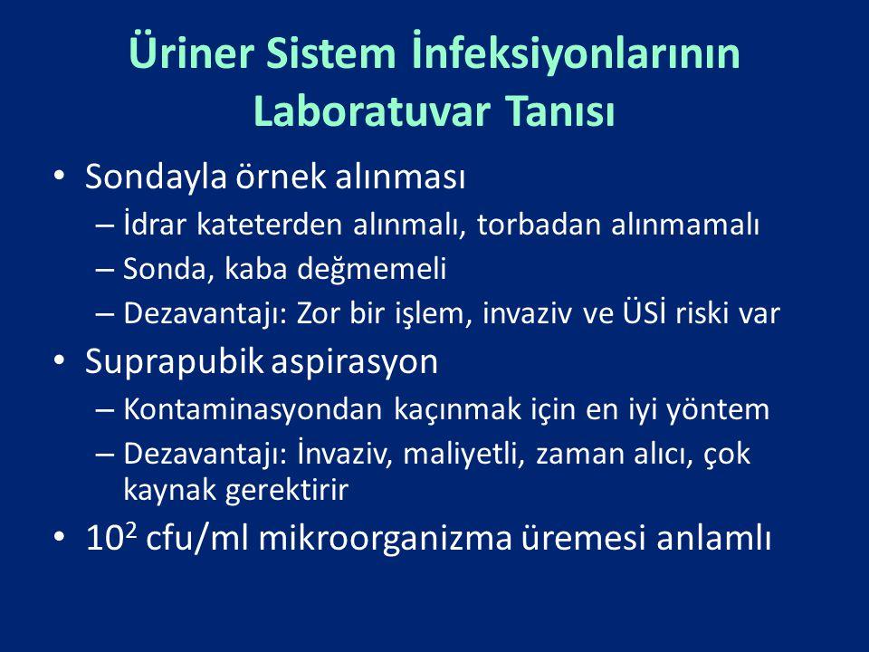 Üriner Sistem İnfeksiyonlarının Laboratuvar Tanısı
