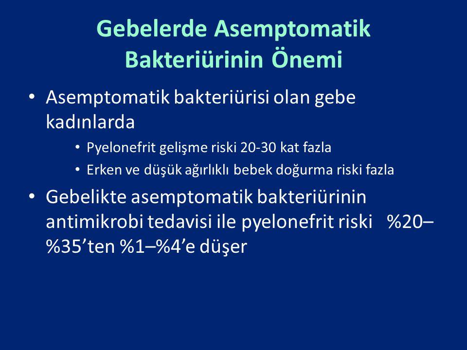 Gebelerde Asemptomatik Bakteriürinin Önemi