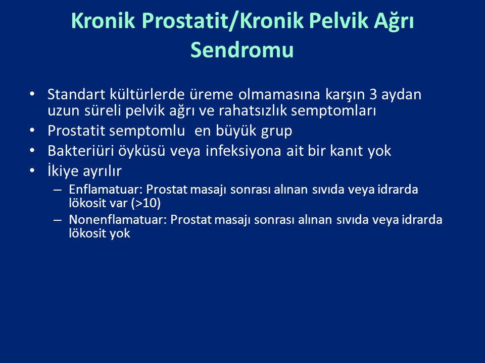 Kronik Prostatit/Kronik Pelvik Ağrı Sendromu